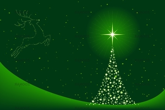 Photo Green Abstract Christmas Background With Christmas Tree And